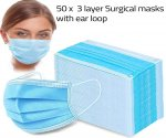 50 x 3 ply Surgical masks